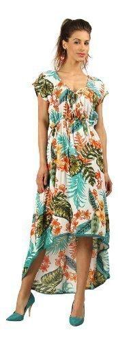 Kushi - Robe Soirée Femme Longue au Dos et Midi Devant Eté Soirée Fête Taille 38-50 Orange