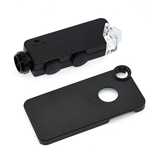 Apexel Mikroskop-Aufsatz für Handys, 50cm Brennweite, Aluminium Für iPhone 5 100X