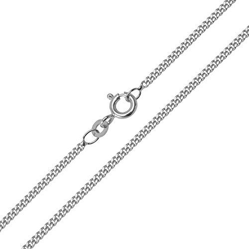 Halskette Panzerkette Silberkette 925 Silber Rhodiniert Breite 1,60mm Länge 36-60cm frei wählbar