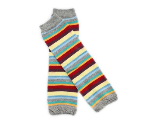 BONAMART Baby Kleinkind Mädchen Jungen Kinder Socken Cotton Leggings Legs Wärmer Beinstulpen Babysocken Footless Kniestrumpf Karikatur strickmuster Baumwolle, Gestreiften Bunten B, L:approx 30cm -