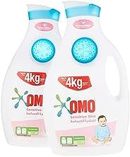 منظف سائل للغسيل من أومو للبشرة الحساسة، 2 لتر (عبوة من 2)