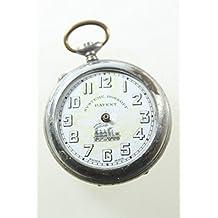Bonito reloj de bolsillo los ferroviarios Suiza Roskopf Patent 1920 Art Déco donhütte