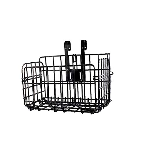 UGsLTyVqv Fahrradkorb Multi-funktions-faltrad Metall Hängender Korb Fahrrad Vorne Hinten Hängenden Beutel Fahrrad-Eisen-fertigkeit-Speicher-Korb Schwarz -