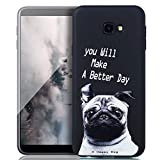 ZCXG Funda para Samsung Galaxy J4 Plus 2018,Funda Silicona Negro de Gel TPU Silicona Carcasa Suave Ultrafina y Flexible Teléfono Móvil Antigolpes Anti-Choque Creativo Modelo Case Samsung J4 Plus