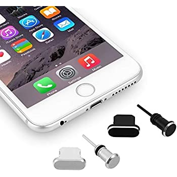 Earphone Stopper Caps w// Hole for Charms  PKG 3 Cell Phone Dust Plugs Finding