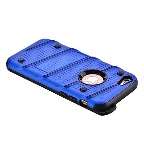 MXNET IPhone 7 Case, Charm Knight Abnehmbare PC + TPU Kombination Schutzhülle mit Halter ,Fall für iphone 7 ( Color : Silver ) Blue