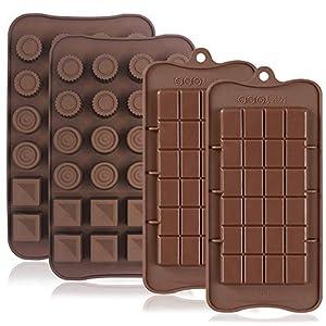 4PCS Silikon Schokolade Formen, Antihaft-break-apart Protein und Energie Bar, Ice Cube Tablett CANDY Form Küche Backform