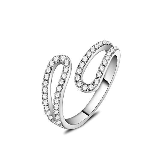 barbie, anello da ragazza e donna, anello in oro bianco e oro rosa, anello moda , anello di squisita fattura #BSJZ086 (Placcato oro bianco)