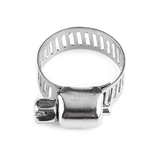 Mugast Collier de Serrage inox,boulon de serrage à vis de collier de serrage réglable avec collier de serrage pour conduite de carburant,en acier inoxydable de haute qualité,10 pièces (13-19)