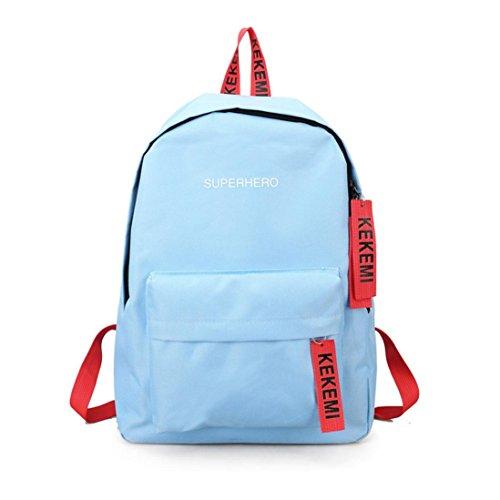 Imagen de  escolares,smartlady mujer juveniles niña moda letra imprimir estilo lienzo bolsas escolares para deporte viaje azul