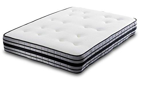 Pocket-memory-foam-matratze (ZOE 3D Airflow schwarz & grau 2000POCKET MEMORY FOAM Matratze-Modernes Design-5ft King Size)