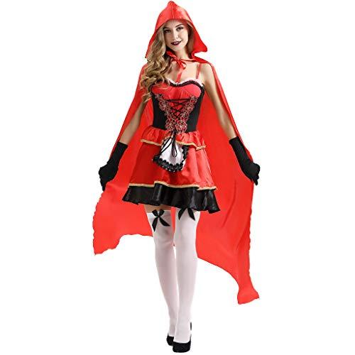 Britischen Mantel Erwachsene Für Roten Kostüm - Honestyi Damenbekleidung Sexy Mantel Kleid Anzug Cosplay Halloween Clothes Festival Damen Halloween Kostüme Rotkäppchen Kostüm