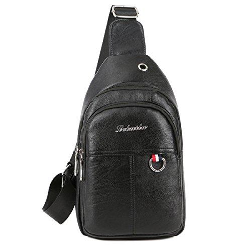 BULAGE Taschen Geldbörsen Mannbeutel Brustbeutel Männer Lässig Schulter Brust Messenger Wasser Sport Schmutz Black