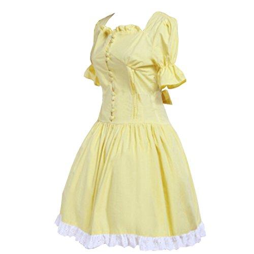 Partiss - Robe de chambre - Femme Jaune - Jaune