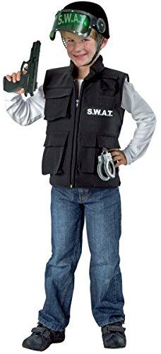 Festartikel Müller Kinder Kostüm Zubehör Weste SWAT Polizist Karneval Fasching Gr.164 (Swat Kostüm Zubehör)