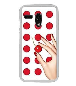 Red Dots Pattern 2D Hard Polycarbonate Designer Back Case Cover for Moto G Turbo Edition :: Moto G Turbo (Virat Kohli Edition)