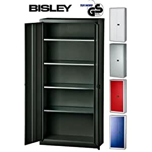 bisley aktenschrank werkzeugschrank fl gelt renschrank aus metall abschlie bar inkl 4. Black Bedroom Furniture Sets. Home Design Ideas