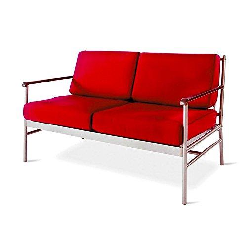"VARILANDO moderne Tiefsitzer-Gartenbank ""Karl"" aus polyester-beschichtetem Metall als 2-Sitzer Metall-Bank Sitz-Bank Garten-Bank - 2"