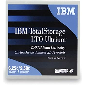 IBM LTO Ultrium 6 Tape Data Cartridge - 2.5 TB/Up to 6.25 TB