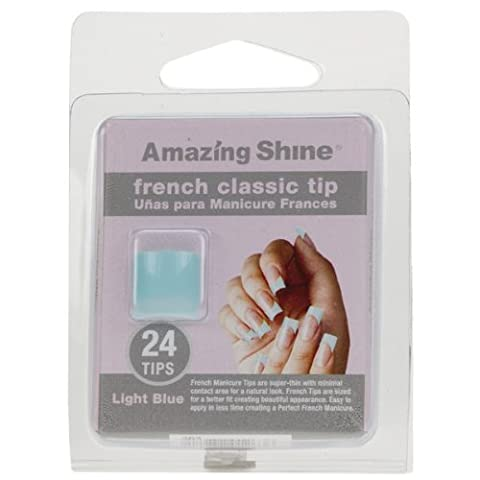 Amazing Shine 24 French Classic Nail Tips - Light Blue (263)