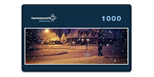 (hansepuzzle 32108 Panorama-Puzzle: Winter-Wunderland, 1000 Teile in hochwertiger Kartonbox, Puzzle-Teile in wiederverschliessbarem Beutel)