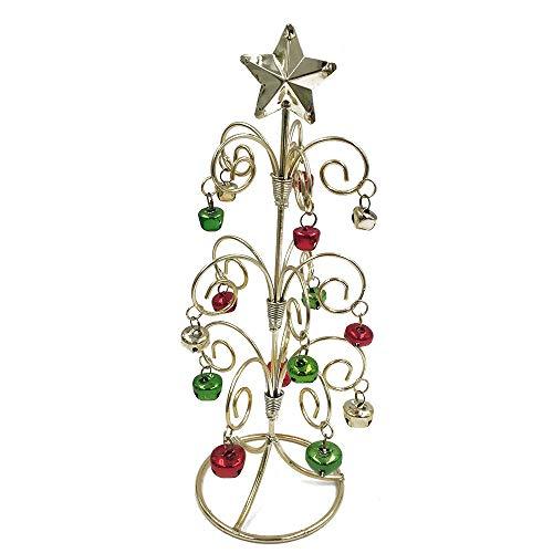 Kreative Weihnachten Dekor, Wawer Mini Eisen Weihnachtsbaum Bell Desktop Ornamente Home Office Dekoration Xmas Geschenk (Gold)