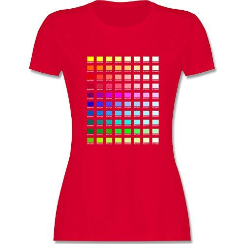 Nerds & Geeks - Farbtabelle - HEX - tailliertes Premium T-Shirt mit  Rundhalsausschnitt für