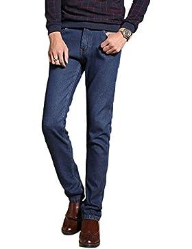 Menschwear Nuovo da uomo Lined Jeans Warm Fleece gamba dritta 28-38