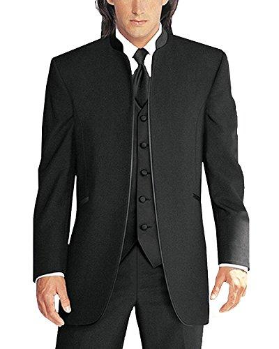 Lilis® Herren 3 Stücke Hochzeit Anzüge Reines Weißes Kragen Dreiteilige Smoking Anzüge - Drei Stück Anzug Herren-anzüge