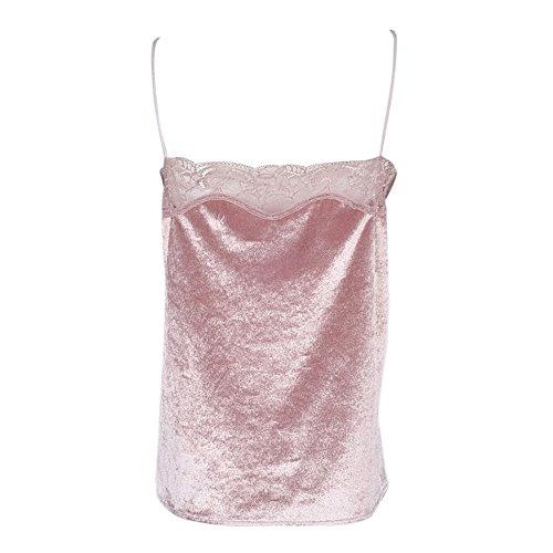 Butterme Damen Frauen V-Ausschnitt Tank Tops Bustier BH Weste Ernte Bralette Shirt Bluse Cami, Rosa, Gr. M Rosa