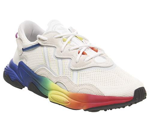 Orange Canvas Schuhe (adidas Originals Herren Sneakers Ozweego Pride weiß 44 2/3)
