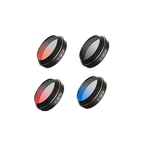 Haodasi Gradient Neutral Dichte Red/Orange/Blue/Gray Filter Linse Beschützer Set für DJI Mavic Pro Drone