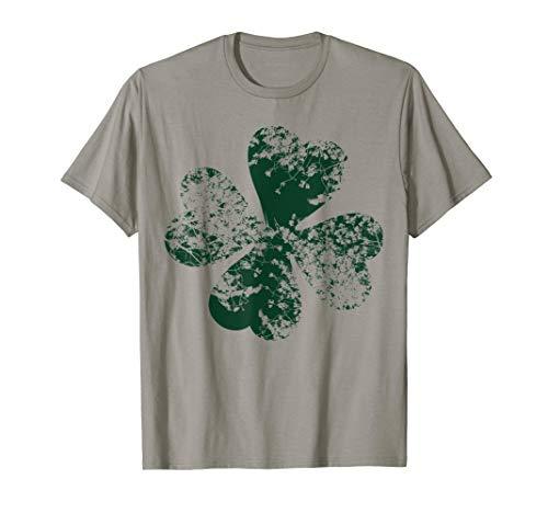 Grunge Kleeblatt Shirt St Patricks Day Shamrock Grün Natur -