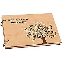 Vintage albero fiorito con libro degli ospiti per matrimonio, Album Ricordi libro Album per sposa doccia