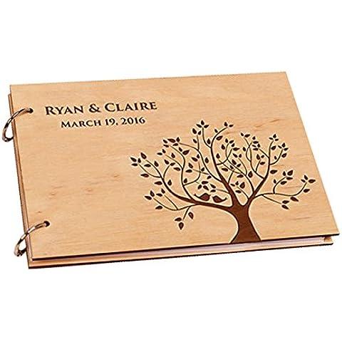 Vintage Blossom Tree con libro de invitados para boda personalizado álbumes de fotos libro recuerdos para novia ducha de recortes