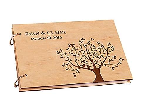 Vintage Blossom Arbre avec livre d'or de mariage personnalisée albums photos livre souvenirs pour mariage scrapbooking de douche