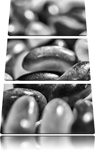 Monocrome, confiserie Jelly Belly Beans 3 PC image Canvas 120x80 image sur toile, XXL énormes photos complètement encadrées avec civière, impression Art mural avec cadre gänstiger comme une peinture ou une peinture à l'huile, pas poster ou une affiche