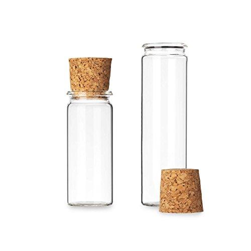 25x Reagenzgläschen aus Laborglas mit Press-Korken | Rollrand ✓ Glasfläschchen für Gastgeschenke ✓ (70 x Ø 30mm)