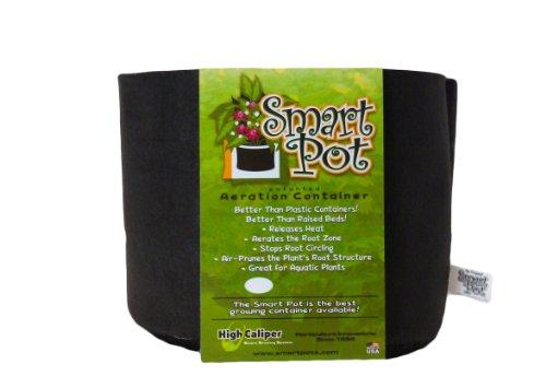 Smart Pots Pot souple, 56 l, Tissu, noir, 3 gallon