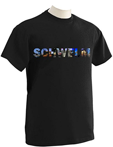 T-Shirt mit Städtenamen Schwelm Schwarz