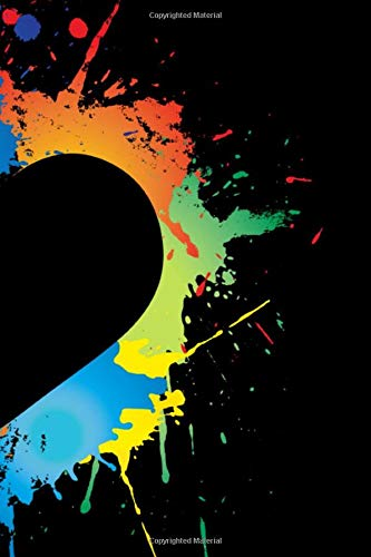 Paint Splatter Journal: Neon Heart shaped blank lined Journal for Artists, Painters, Graffiti lovers, Street Artist- Neon Heart 120 page 6