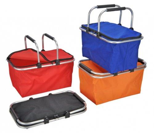 Panier à provisions pliable 28 x 48 x 24 cm orange