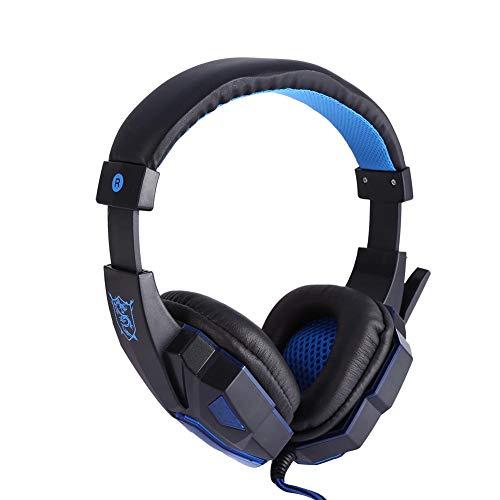Pomya Gaming Headset Kopfband Kopfhörer Stereo Gaming Kopfhörer mit Mikrofon Kabel Headsets mit LED Licht Rauschunterdrückung Kopfhörer