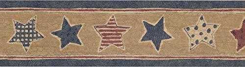 Cenefa papel pintado diseño estrellas CS541B