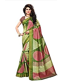 Floral Trendz Women's Bhagalpuri Silk Zari Border Printed Saree With Blouse Piece.(Bhagalpuri 809_Free Size)