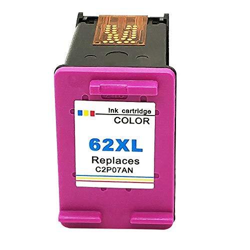Kyansin 62 XL Tintenpatronen, Wiederaufbereitete HP 62 XL HP62 Druckerpatronen (C2P07AN),High Yield-Tinten,Kompatibel für HP Envy 5540 5542 5544, HP OfficeJet 5742 200 5744 (Farbe)