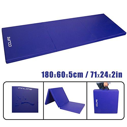 CCLIFE Tragbar Faltbar Gymnastikmatte Weichbodenmatte Yogamatte Turnmatte Fitnessmatte Klappmatte...