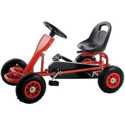 SixBros. Pedal GoKart Coche de pedales Rojo - F90C/691