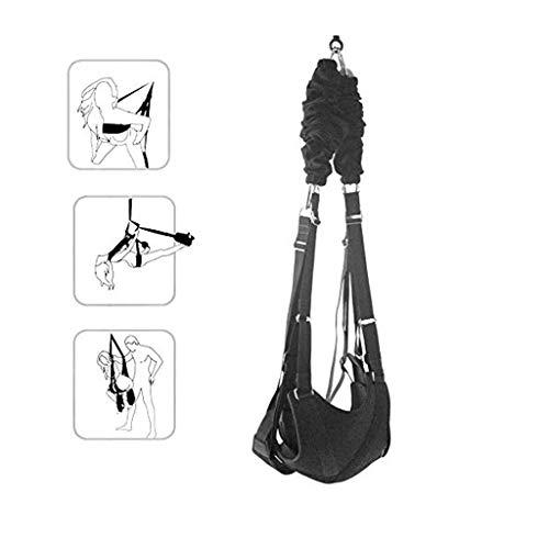 Ibs-unterstützung (Romantische Decke hängende Schaukel Set Yoga Swing Séx Schaukel für Paar Unterstützung 240 Ibs Black Swing Kit)