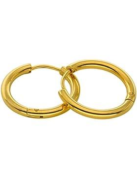 Aooaz Schmuck 1 Paare / 2 Stück Creole Ohrringe 8mm-20mm Edelstahl Allergiefrei 2.5mm Breite Ohrringe für Damen...